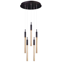 ET2 Lighting Scepter 5 Light Multi-Light Pendant in Anodized Bronze E32775-118BRZ
