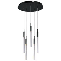 ET2 Lighting Scepter 5 Light Multi-Light Pendant in Black Chrome E32775-91BC