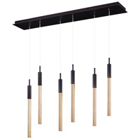 ET2 Lighting Scepter 6 Light Linear Pendant in Anodized Bronze E32776-118BRZ