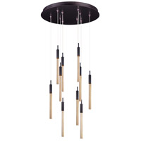 Scepter LED 16 inch Anodized Bronze Multi-Light Pendant Ceiling Light