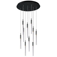 Scepter LED 16 inch Black Chrome Multi-Light Pendant Ceiling Light in Bubble