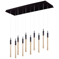 ET2 Lighting Scepter 10 Light Linear Pendant in Anodized Bronze E32779-118BRZ