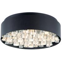 ET2 E32782-BKAL Pipes 13 Light 24 inch Black and Brushed Aluminum Flush Mount Ceiling Light