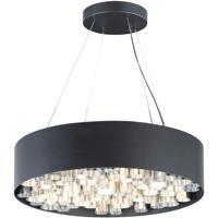 ET2 E32785-BKAL Pipes 13 Light 24 inch Black and Brushed Aluminum Multi-Light Pendant Ceiling Light