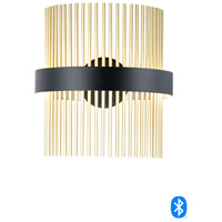 Black and Satin Brass Wall Sconces