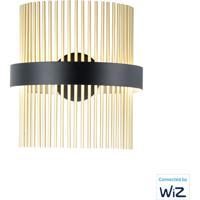 ET2 E34201-BKSBR Chimes 2 Light 7 inch Black and Satin Brass Wall Sconce Wall Light