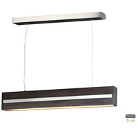 ET2 E35016-WEPC iWood LED 4 inch Wenge and Polished Chrome Pendant Ceiling Light