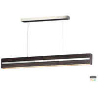 ET2 E35018-WEPC iWood LED 4 inch Wenge and Polished Chrome Pendant Ceiling Light