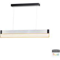 ET2 E35020-83AL iBar LED 5 inch Brushed Aluminum Pendant Ceiling Light in Brushed Black