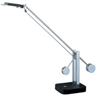 ET2 Eco-Task 1 Light Table Lamp in Black and Polished Chrome E41020-BK/PC