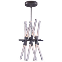 Light Saber LED LED 24 inch Gunmetal Foyer Pendant Ceiling Light