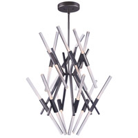 ET2 E41436-75GM Light Saber LED LED 39 inch Gunmetal Multi-Tier Chandelier Ceiling Light