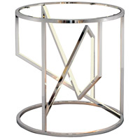 ET2 E71005-PC Trapezoid 21 X 20 inch Polished Chrome End Table