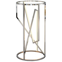 ET2 E71006-PC Trapezoid 30 X 16 inch Polished Chrome Accent Table