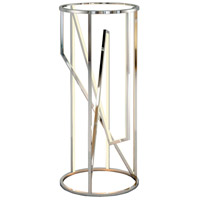 ET2 E71007-PC Trapezoid 36 X 16 inch Polished Chrome Accent Table
