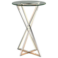 ET2 E71010-PC York 24 X 16 inch Polished Chrome Accent Table