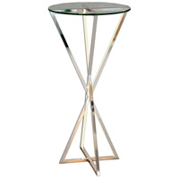 ET2 E71011-PC York 30 X 16 inch Polished Chrome Accent Table