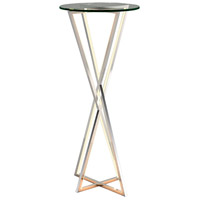 ET2 E71012-PC York 36 X 16 inch Polished Chrome Accent Table