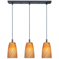 ET2 Carte 3 Light Linear Pendant in Bronze E91043-14