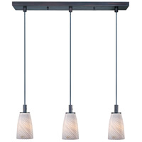 ET2 Carte 3 Light Linear Pendant in Bronze E91043-39