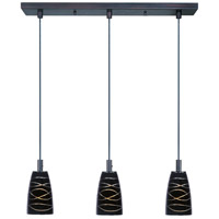 ET2 Carte 3 Light Linear Pendant in Bronze E91043-50