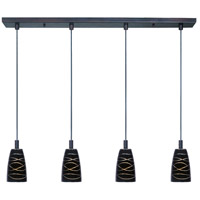 ET2 Carte 4 Light Linear Pendant in Bronze E91044-50 photo thumbnail