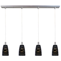 ET2 Carte 4 Light Linear Pendant in Satin Nickel E91044-50SN