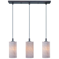 ET2 Carte 3 Light Linear Pendant in Bronze E91053-39