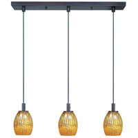 ET2 Carte 3 Light Linear Pendant in Bronze E91073-53