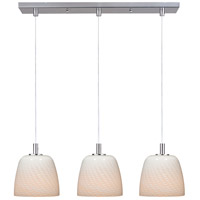 ET2 Carte 3 Light Linear Pendant in Satin Nickel E91113-13