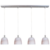 ET2 Carte 4-Light Linear Pendant in Satin Nickel E91114-39