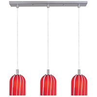 ET2 Carte 3-Light Linear Pendant in Satin Nickel E91193-03