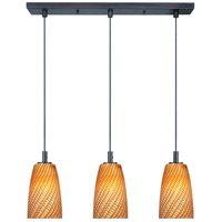 ET2 Carte 3 Light Linear Pendant in Bronze E92043-14