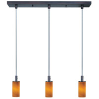 Carte 3 Light 25 inch Bronze Linear Pendant Ceiling Light