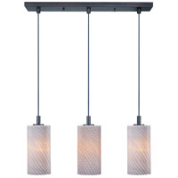 ET2 Carte 3 Light Linear Pendant in Bronze E92053-39