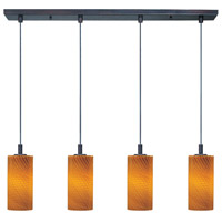 ET2 Carte 4 Light Linear Pendant in Bronze E92054-14