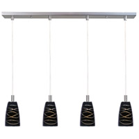 ET2 Carte 4 Light Linear Pendant in Satin Nickel E92144-50