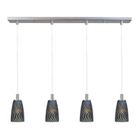 ET2 Carte 4 Light Linear Pendant in Satin Nickel E92144-51