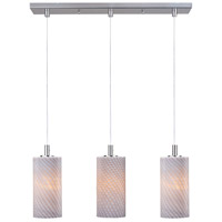 ET2 Carte 3 Light Linear Pendant in Satin Nickel E92153-39