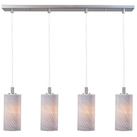 ET2 Carte 4 Light Linear Pendant in Satin Nickel E92154-39