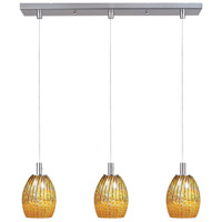 ET2 Carte 3 Light Linear Pendant in Satin Nickel E92173-53
