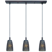 ET2 Carte 3 Light Linear Pendant in Bronze E93043-51