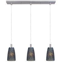 ET2 Carte 3 Light Linear Pendant in Satin Nickel E93043-51SN