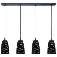 ET2 Carte 4 Light Linear Pendant in Bronze E93044-50