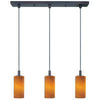 ET2 Carte 3 Light Linear Pendant in Bronze E93053-14