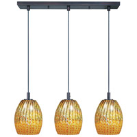 ET2 Carte 3 Light Linear Pendant in Bronze E93073-53