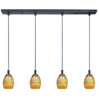ET2 Carte 4 Light Linear Pendant in Bronze E93074-53 photo thumbnail