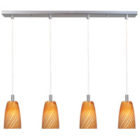 ET2 Carte 4 Light Linear Pendant in Satin Nickel E93144-14