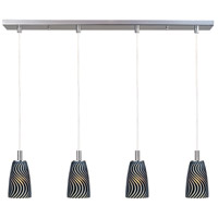 ET2 Carte 4 Light Linear Pendant in Satin Nickel E93144-51 photo thumbnail