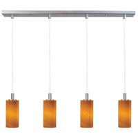 ET2 Carte 4 Light Linear Pendant in Satin Nickel E93154-14